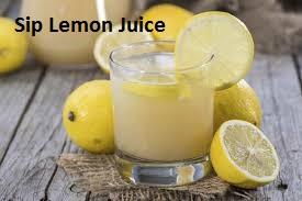 Sip Lemon Juice