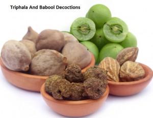 Triphala And Babool Decoctions